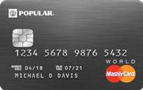 Popular Bank Preferred World MasterCard
